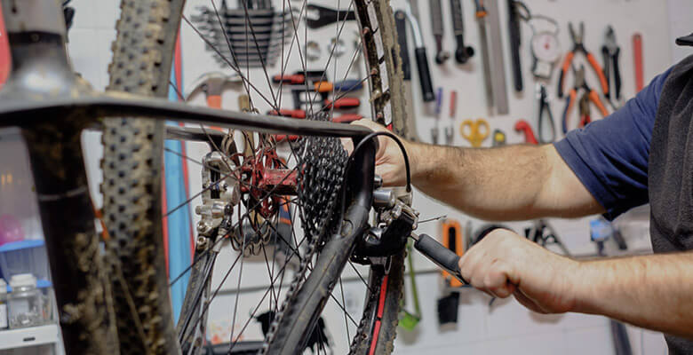 Mountain bike repairing